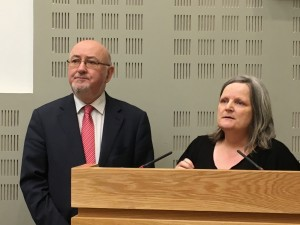 Committee Chairperson CaoimhIn O  Caoláin with Maria Joyce, NTWF