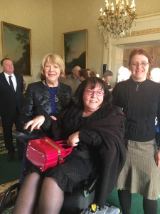 (L to R) Sabina Higgins, Rosaleen McDonagh and Alice Mary Higgins.