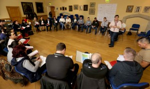 "Ronnie Fay, Pavee Point leads a session during ""Community Work in a Changing Ireland"", NUI Maynooth ©Photo by Derek Speirs"