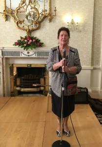 Molly Collins sings at Áras an Uachtaráin