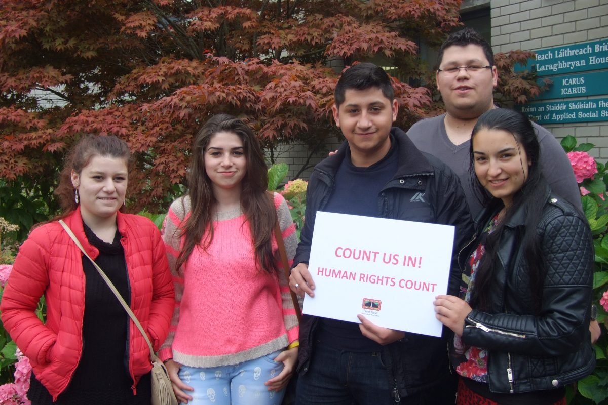 Young Roma attending Pavee Point training on ethnic data collection