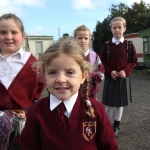 Traveller children on the way home form school