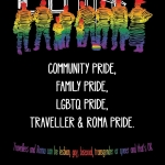 LGBTQ Traveller and Roma Poster (Black)
