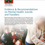 Evidence and Recommendations on Mental-Health, Suicide and Travellers