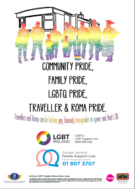 LGBTQ Traveller and Roma Poster (White)