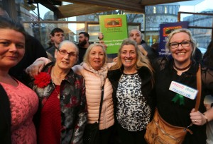 Lots of happy faces at Dáil Eireann ©Photo by Derek Speirs