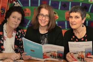Pavee Point. Launch of 'Young Pavees: Their Mental Health Needs, A Research Report. Here L to R, Missie Collins, Pavee Point, Anne O'Connor, National Director, Mental Health Division, HSE  and Ronnie Fay Pavee Point. ©Photo by Derek Speirs