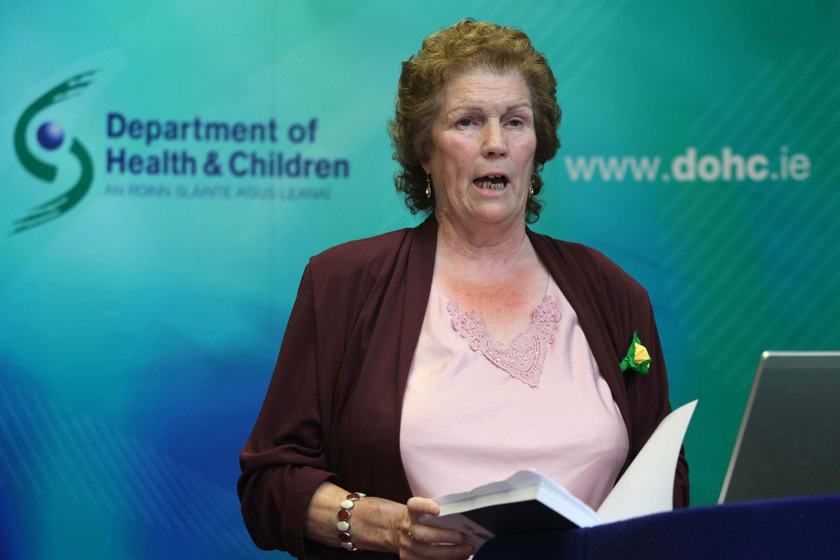 Primary Health Care Worker, Missie Collins speaking at the launch of 'Our Geels' The All Ireland Traveller Health Study ©Photo Derek Speirs.