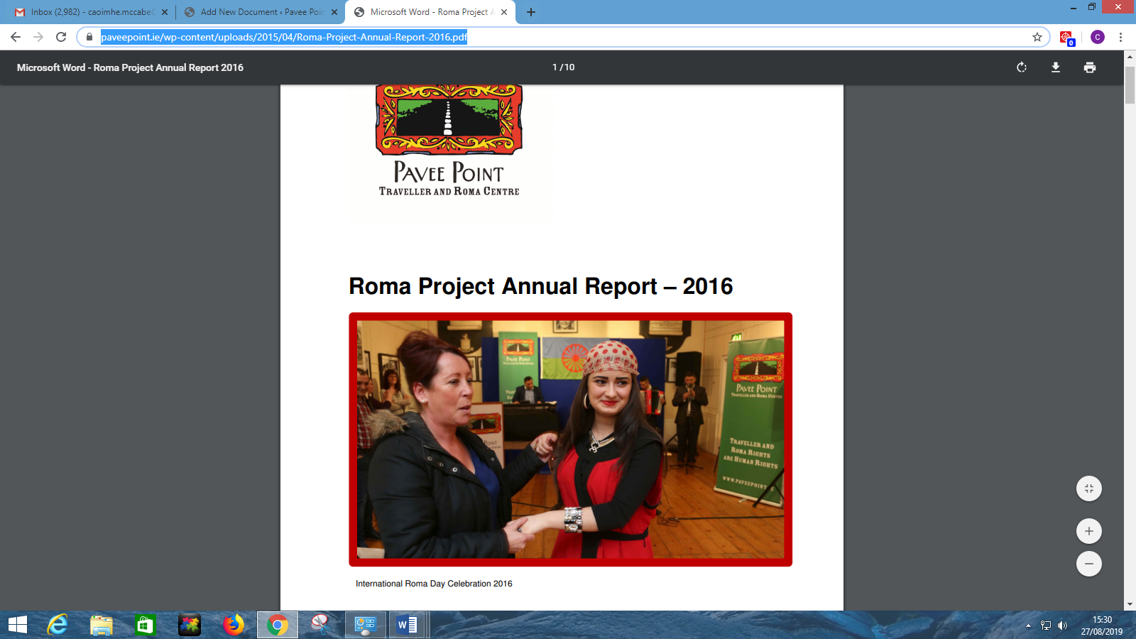 Roma Project Annual Report 2016