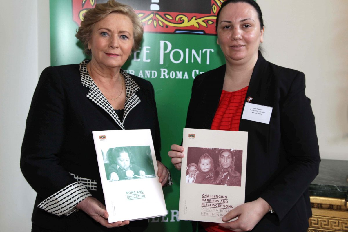 Minister Fitzgerald and Gabi Muntean at the Realising Roma Children's Rights conference