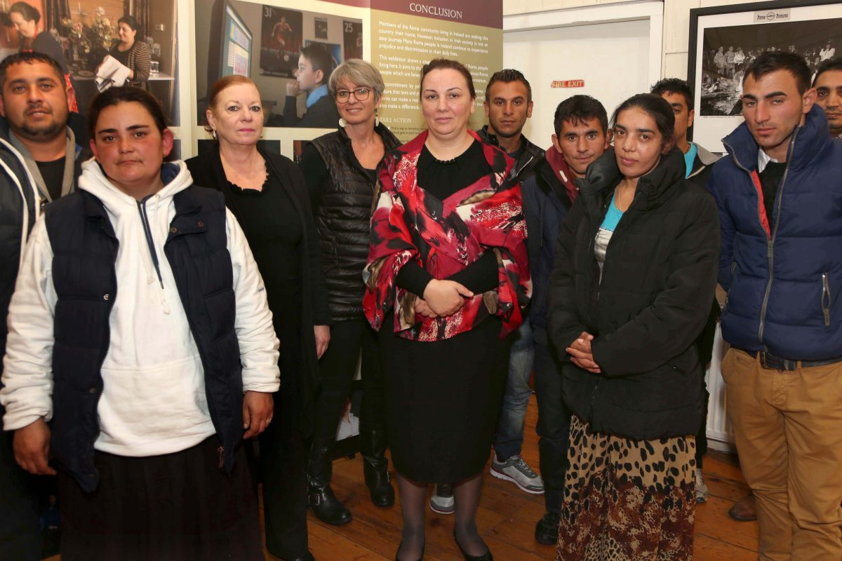 Roma community members meeting with European Commission representatives in Pavee Point. ©Photo by Derek Speirs