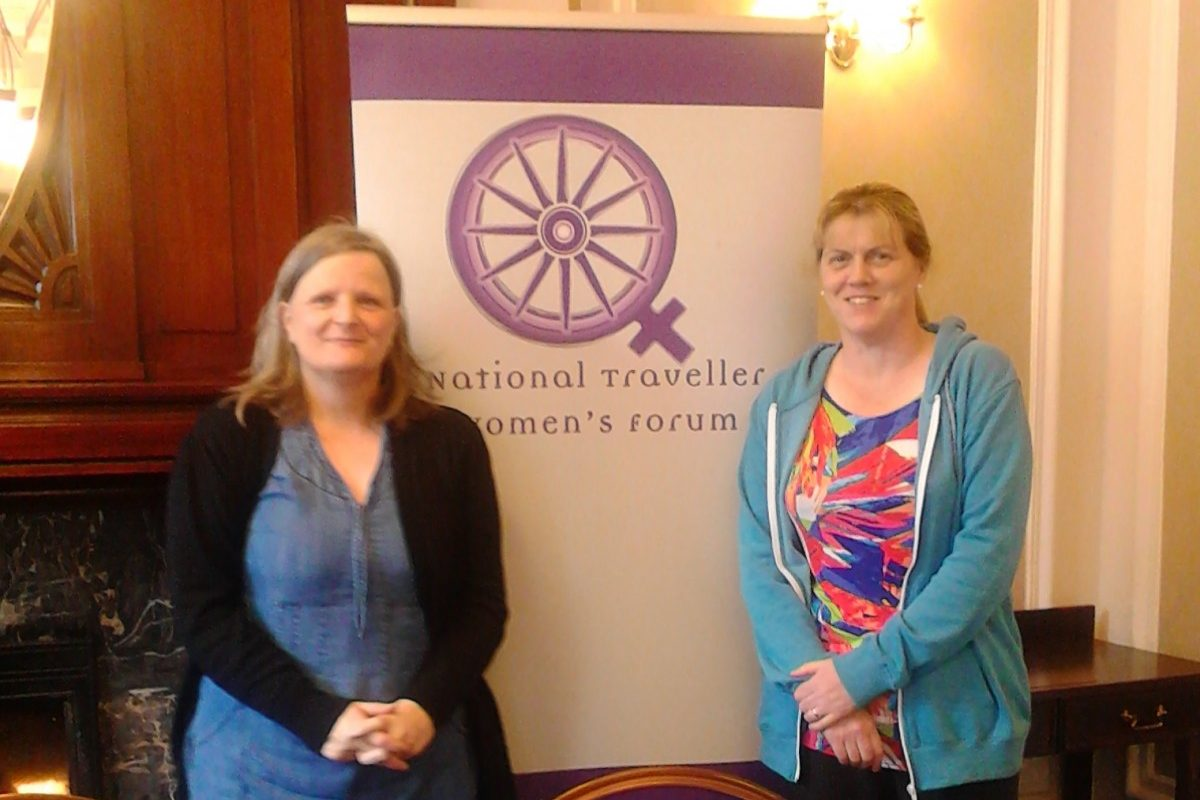 Tessa Collins, Pavee Point and Maria Joyce, National Traveller Women's Forum.