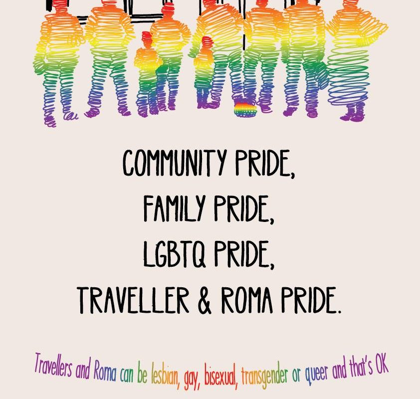 Traveller and Roma Pride Poster