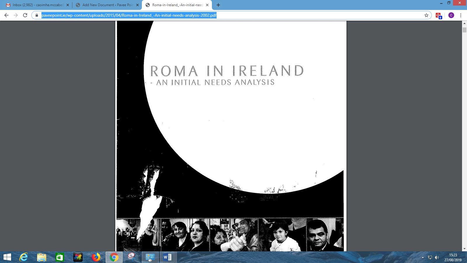 Roma in Ireland: An Initial Needs Assessment